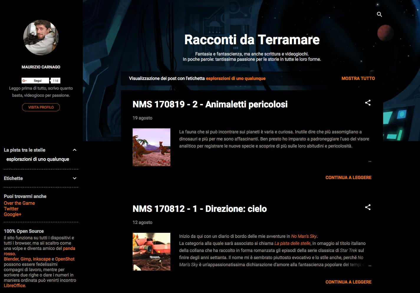 Blog: Racconti da Terramare